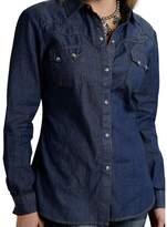 Roper Western Shirt Womens L/S Denim Snap 03-050-0594-6030 BU