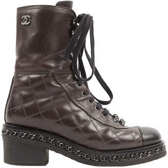 Chanel \N Brown Leather Ankle boots