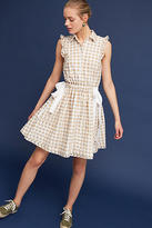 Shoshanna Gingham Double-Tie Dress