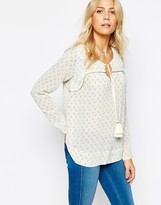 Pepe Jeans Boho Blouse With Tassel