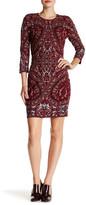 Haute Hippie 3/4 Length Sleeve Knit Dress
