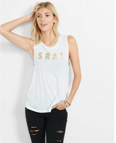 Express one eleven metallic srat graphic tank