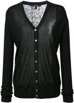 Derek Lam printed back buttoned cardigan - women - Silk/Cashmere - XS