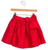 Oscar de la Renta Girls' Bow-Embellished Silk Skirt