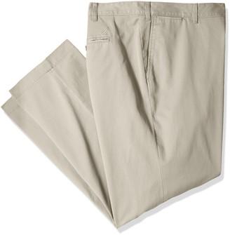 Nautica Men's Big-Tall Big & Tall Cotton Twill Flat Front Chino Pant Pants