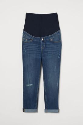 H&M MAMA Boyfriend Ankle Jeans - Blue