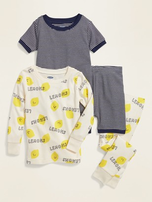 Old Navy Lemon-Print 4-Piece Pajama Set for Toddler & Baby