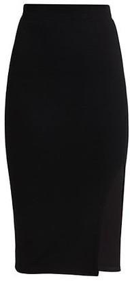 JONATHAN SIMKHAI STANDARD Slit Ribbed Skirt