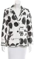 Chris Benz Printed Structured Blazer