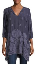 Johnny Was Paisley Flair Georgette Easy Tunic, Plus Size