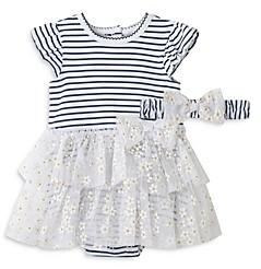 Little Me Girls' Daisy Tutu Dress & Headband Set - Baby