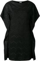 M Missoni metallic chevron dress - women - Cotton/Polyamide/Polyester/Metallic Fibre - XS