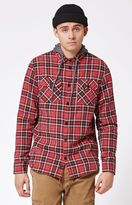 Globe Alford Plaid Hooded Long Sleeve Button Up Shacket