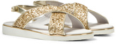 Mayoral Gold Glitter Cross-Over Velcro Sandals