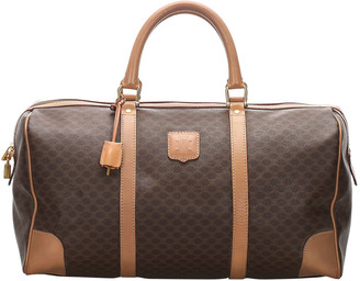 Celine Brown Macadam PVC Travel Bag