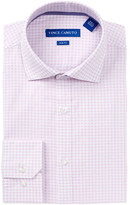 Vince Camuto Check Trim Fit Dress Shirt