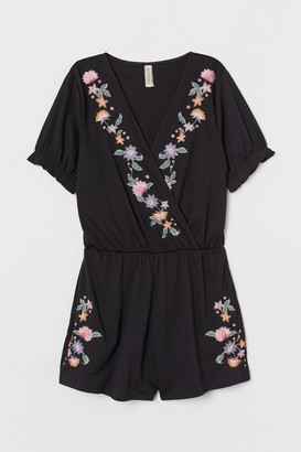 H&M Embroidered playsuit