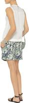 Tibi Silk chiffon-paneled quilted jersey top