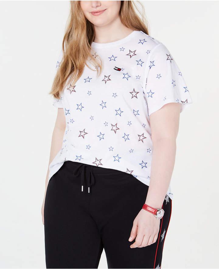 Tommy Hilfiger Plus Size Star Print T-Shirt