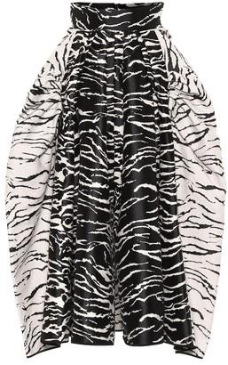 Maticevski Numerous Ball Zebra-print skirt