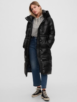 Gap Upcycled Long Puffer Coat