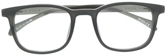 HUGO BOSS Square-Frame Clear-Lens Sunglasses