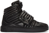 Versace Black Quilted Medusa High-top Sneakers