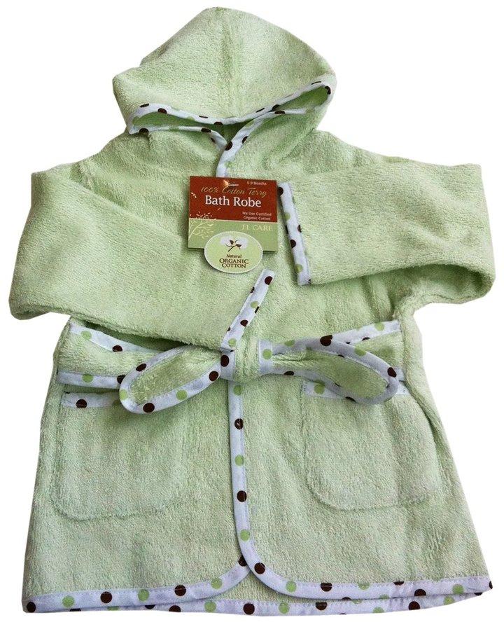 American Baby Company Organic Terry Baby Bath Robe - Celery