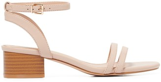 Forever New Pia Low-Block Heels - Nude - 36