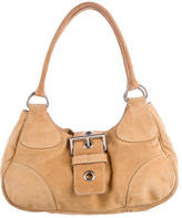 Prada Suede Semitracolla Shoulder Bag