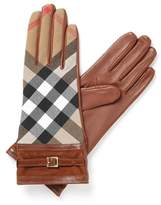 Burberry Women's Brown Leather Gloves.