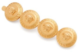 Versace Medusa-coins Metal Right-side Hair Clip - Gold