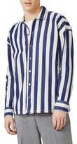 Topman Men's Block Stripe Shirt