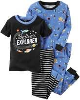 "Carter's Baby Boy 4-pc. Space ""Bedtime Explorer"" Tops & Pants Pajama Set"