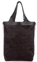 Robert Clergerie Ponyhair & Leather Tote