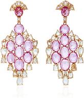 Sutra Pink Sapphire Drop Earrings