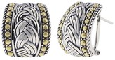 Effy Jewelry Effy 925 Classic Sterling Silver and 18K Yellow Gold Earrings