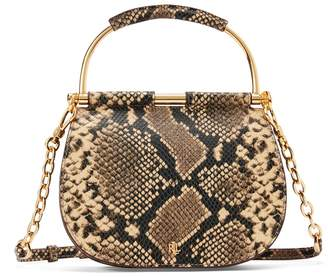 Lauren Ralph Lauren Leather Snakeskin-Effect Mini Bag