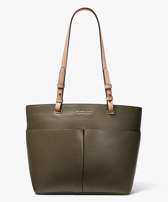 Michael Kors Women's Totebags Olive - Olive Pocket Bedford Leather Tote