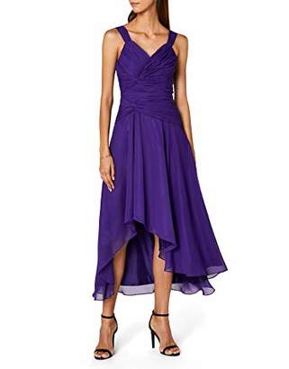 Astrapahl Women's co6021ap Knee-Length Plain Cocktail Sleeveless Dress,(Manufacturer Size: 42)