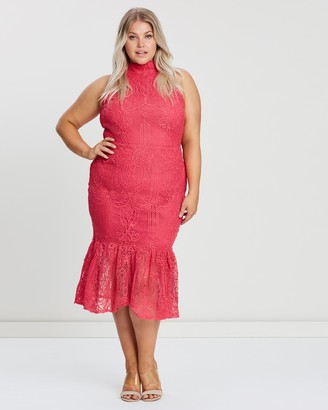 Atmos & Here Hailey Halter Neck Lace Dress