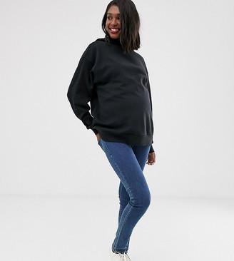Asos DESIGN Maternity oversized hoodie in black