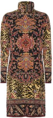 Etro Printed jersey turtleneck dress
