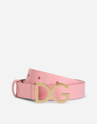 Dolce & Gabbana Patent Leather Belt With Logo