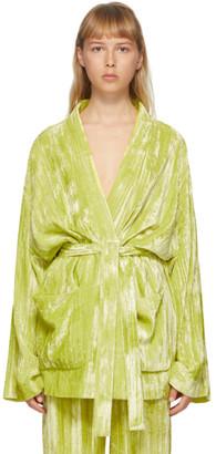 Balenciaga Yellow Velvet Pyjama Jacket