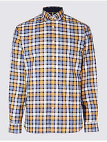 Blue Harbour Pure Cotton Checked Shirt With Pocket
