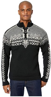 Dale of Norway 140th Anniversary Masculine Sweater (Black/Smoke/Off-White) Men's Clothing