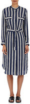 TOMORROWLAND Women's Striped Polished Twill Shirtdress