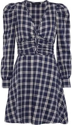 Walter W118 By Baker Nikol Metallic Checked Cotton-blend Twill Mini Dress
