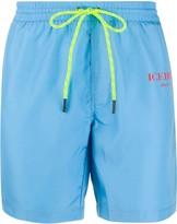 Iceberg logo print swim shorts